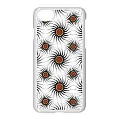 Pearly Pattern Half Tone Background Apple Iphone 7 Seamless Case (white)