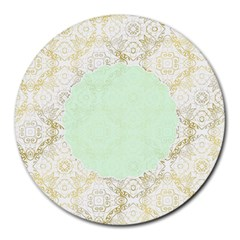 Seamless Abstract Background Pattern Round Mousepads
