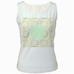Seamless Abstract Background Pattern Women s White Tank Top