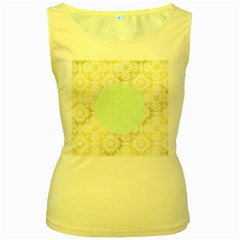 Seamless Abstract Background Pattern Women s Yellow Tank Top