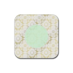 Seamless Abstract Background Pattern Rubber Square Coaster (4 pack)