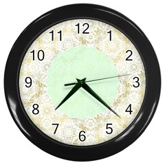Seamless Abstract Background Pattern Wall Clocks (Black)