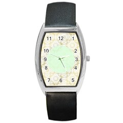 Seamless Abstract Background Pattern Barrel Style Metal Watch