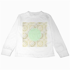 Seamless Abstract Background Pattern Kids Long Sleeve T-Shirts