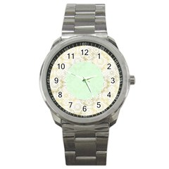 Seamless Abstract Background Pattern Sport Metal Watch