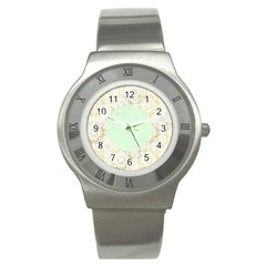 Seamless Abstract Background Pattern Stainless Steel Watch