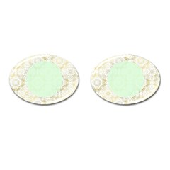 Seamless Abstract Background Pattern Cufflinks (Oval)