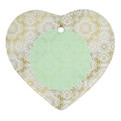 Seamless Abstract Background Pattern Heart Ornament (Two Sides)