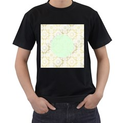 Seamless Abstract Background Pattern Men s T Shirt (black)