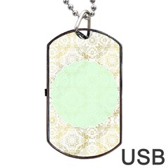 Seamless Abstract Background Pattern Dog Tag USB Flash (Two Sides)