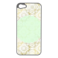 Seamless Abstract Background Pattern Apple iPhone 5 Case (Silver)
