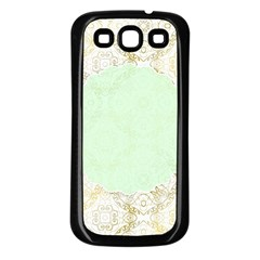 Seamless Abstract Background Pattern Samsung Galaxy S3 Back Case (Black)
