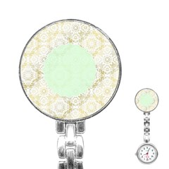 Seamless Abstract Background Pattern Stainless Steel Nurses Watch
