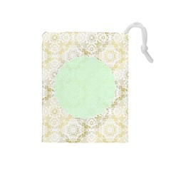 Seamless Abstract Background Pattern Drawstring Pouches (Medium)