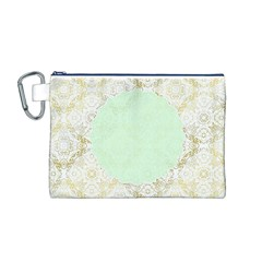 Seamless Abstract Background Pattern Canvas Cosmetic Bag (M)