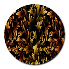 Loral Vintage Pattern Background Round Mousepads