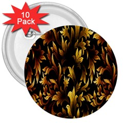 Loral Vintage Pattern Background 3  Buttons (10 pack)