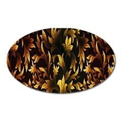 Loral Vintage Pattern Background Oval Magnet