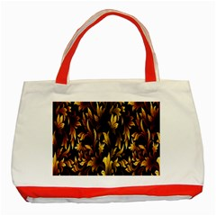 Loral Vintage Pattern Background Classic Tote Bag (red)