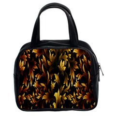 Loral Vintage Pattern Background Classic Handbags (2 Sides)
