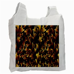 Loral Vintage Pattern Background Recycle Bag (Two Side)
