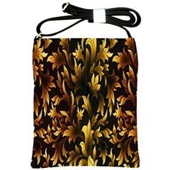 Loral Vintage Pattern Background Shoulder Sling Bags