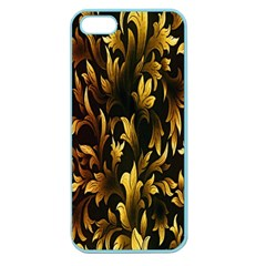 Loral Vintage Pattern Background Apple Seamless Iphone 5 Case (color)