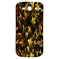 Loral Vintage Pattern Background Samsung Galaxy S3 S III Classic Hardshell Back Case