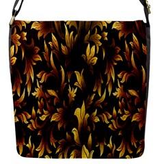 Loral Vintage Pattern Background Flap Messenger Bag (S)