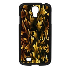 Loral Vintage Pattern Background Samsung Galaxy S4 I9500/ I9505 Case (Black)