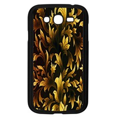 Loral Vintage Pattern Background Samsung Galaxy Grand DUOS I9082 Case (Black)