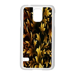 Loral Vintage Pattern Background Samsung Galaxy S5 Case (White)