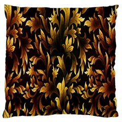 Loral Vintage Pattern Background Large Flano Cushion Case (One Side)