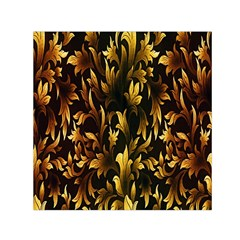 Loral Vintage Pattern Background Small Satin Scarf (Square)