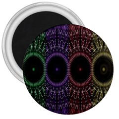 Digital Colored Ornament Computer Graphic 3  Magnets
