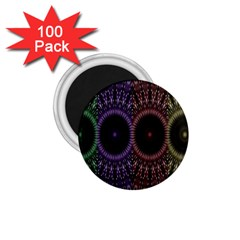 Digital Colored Ornament Computer Graphic 1 75  Magnets (100 Pack)