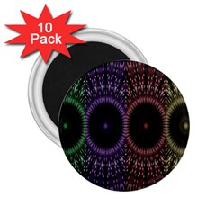Digital Colored Ornament Computer Graphic 2 25  Magnets (10 Pack)