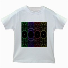Digital Colored Ornament Computer Graphic Kids White T-Shirts