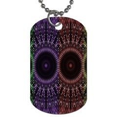 Digital Colored Ornament Computer Graphic Dog Tag (One Side)