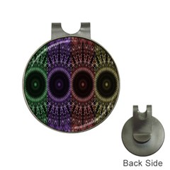 Digital Colored Ornament Computer Graphic Hat Clips with Golf Markers