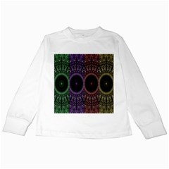 Digital Colored Ornament Computer Graphic Kids Long Sleeve T-Shirts