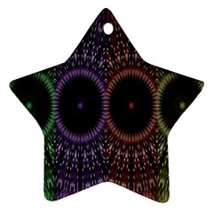 Digital Colored Ornament Computer Graphic Star Ornament (Two Sides)