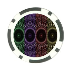 Digital Colored Ornament Computer Graphic Poker Chip Card Guard (10 Pack)