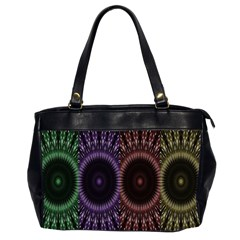 Digital Colored Ornament Computer Graphic Office Handbags (2 Sides)