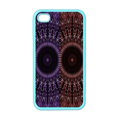 Digital Colored Ornament Computer Graphic Apple Iphone 4 Case (color)