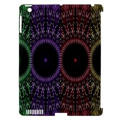Digital Colored Ornament Computer Graphic Apple iPad 3/4 Hardshell Case (Compatible with Smart Cover)