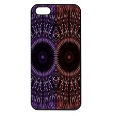 Digital Colored Ornament Computer Graphic Apple iPhone 5 Seamless Case (Black)