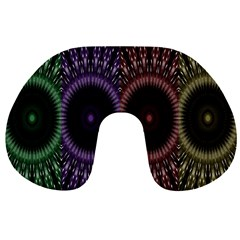 Digital Colored Ornament Computer Graphic Travel Neck Pillows