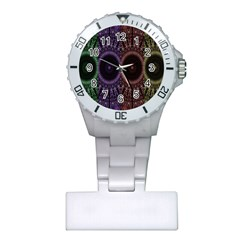 Digital Colored Ornament Computer Graphic Plastic Nurses Watch