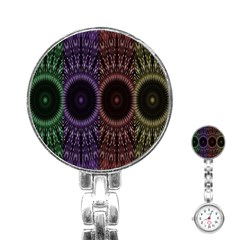Digital Colored Ornament Computer Graphic Stainless Steel Nurses Watch